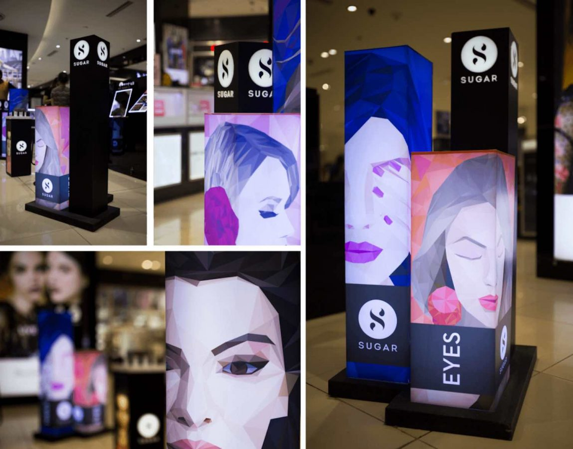 SUGAR's visual identity has successfully scaled across its physical retail environment