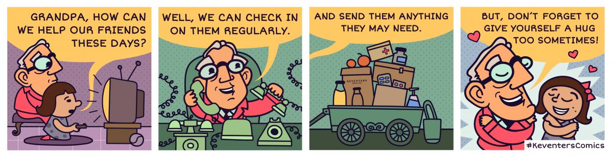 Keventers comic strips social media