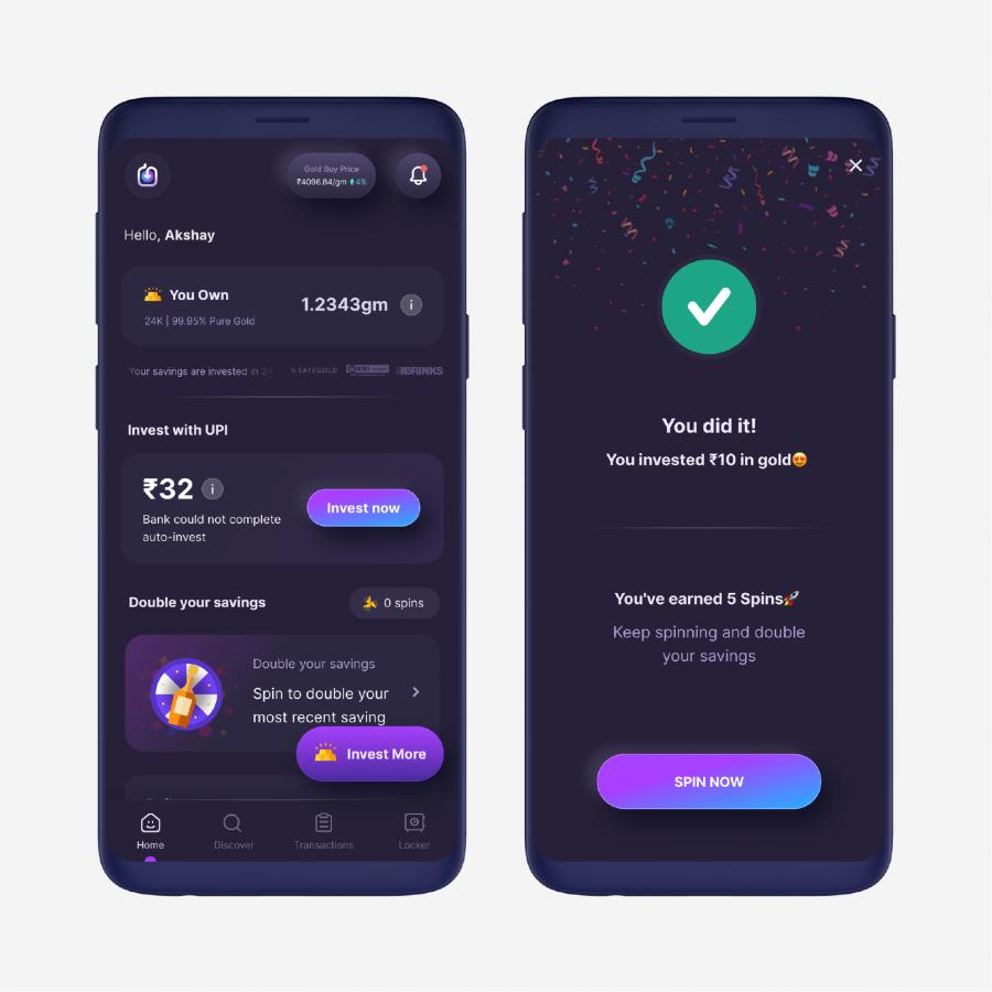Gamification fintech app