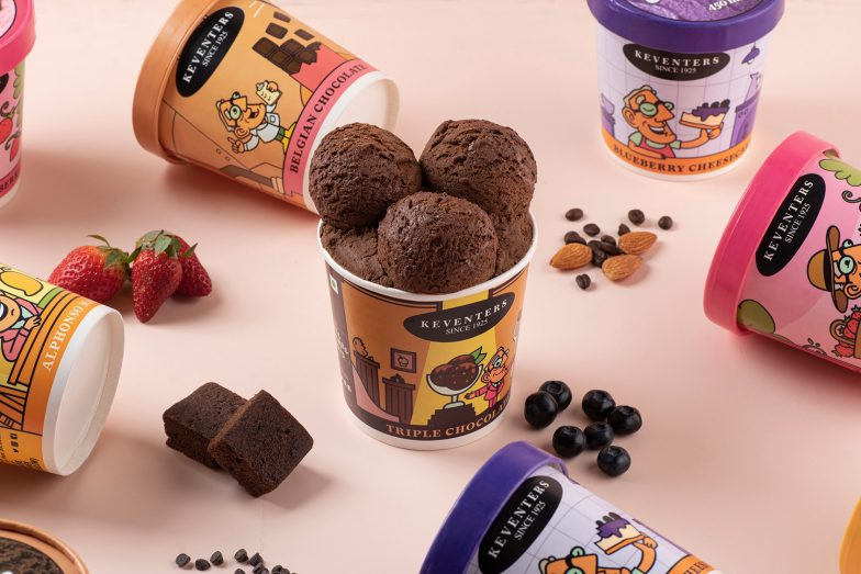 Keventers Ice Cream Packaging Design