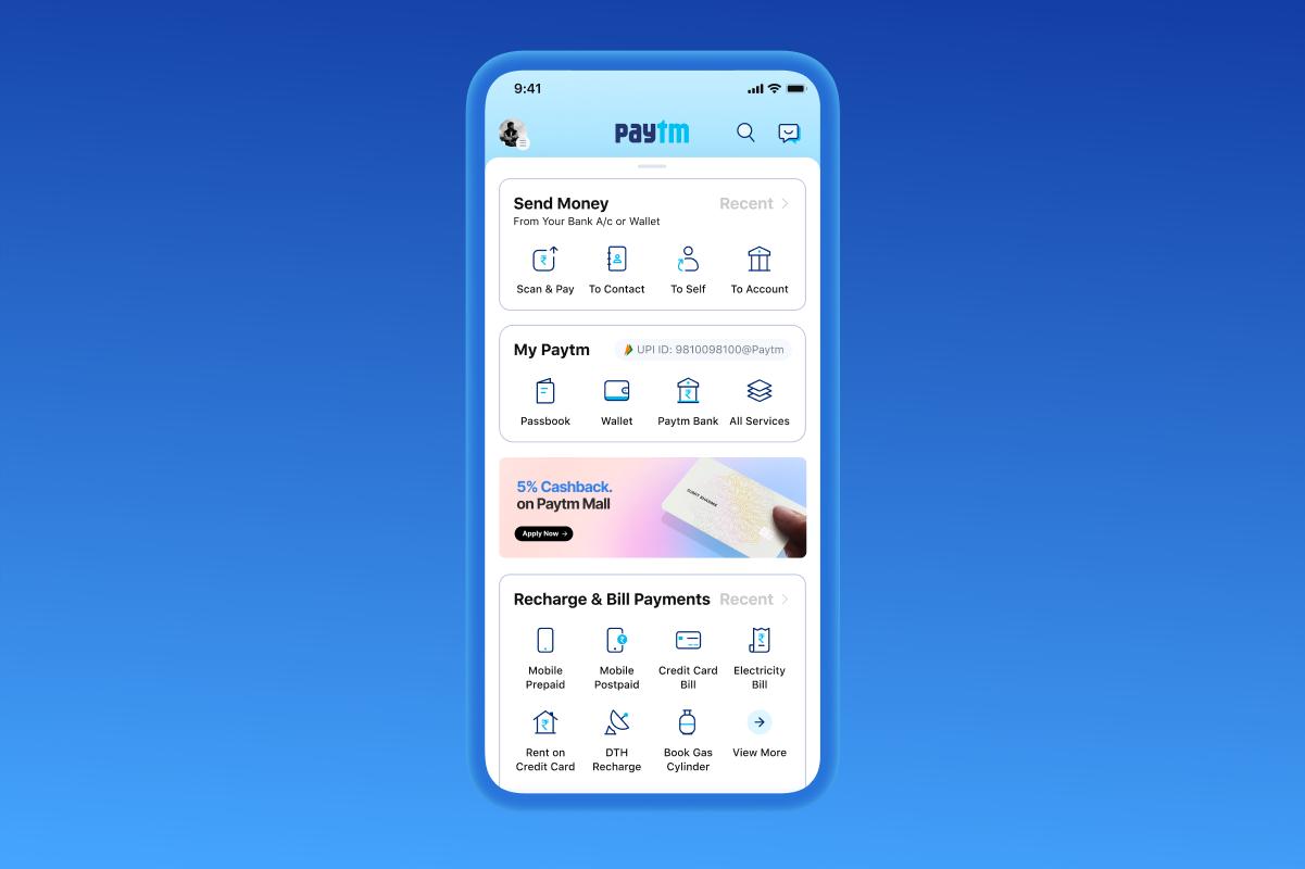 Paytm Personal Dashboard Design