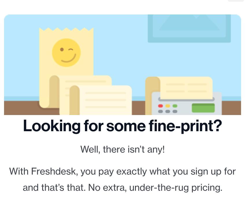 Freshworks transparent pricing