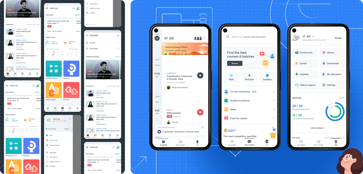 Content discovery unacademy app